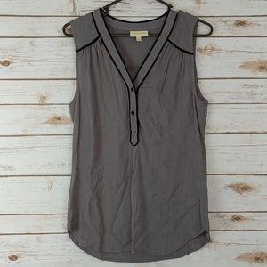 Modcloth Gray Black Tank Top Button Medium
